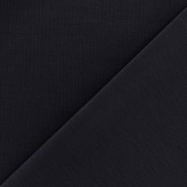 Tissu Jersey Milano lourd uni - bleu nuit x 10cm