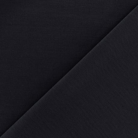 Heavy plain Milano jersey fabric - night blue x 10cm