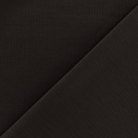 Heavy plain Milano jersey fabric - dark brown x 10cm