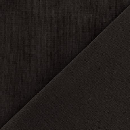 Heavy plain Milano jersey fabric - dark brown x 10cm