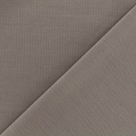 Heavy plain Milano jersey fabric - taupe x 10cm