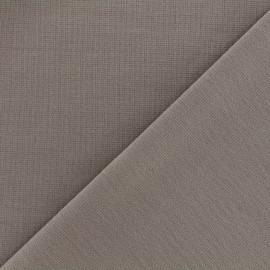 Tissu Jersey Milano lourd uni - taupe x 10cm