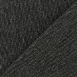 Tissu Jersey Milano lourd uni - anthracite chiné x 10cm