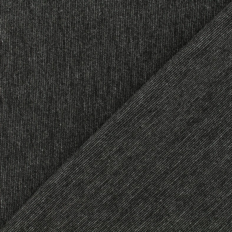 bf054c9abe4 Heavy plain Milano jersey fabric - mocked anthracite x 10cm - Ma Petite  Mercerie
