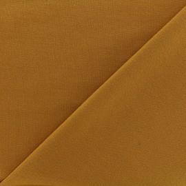 Heavy plain Milano jersey fabric - mustard x 10cm