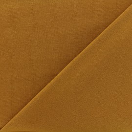 Tissu Jersey Milano lourd uni - moutarde x 10cm