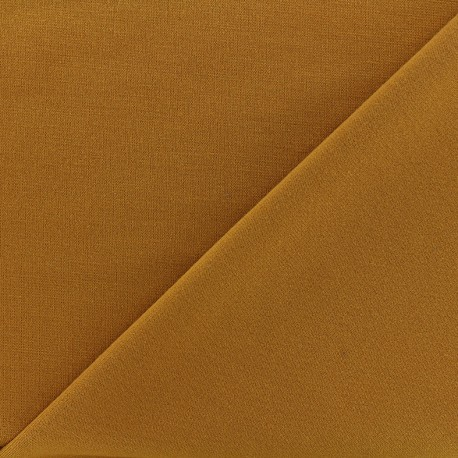 tissu jersey milano lourd uni moutarde x 10cm ma petite mercerie. Black Bedroom Furniture Sets. Home Design Ideas