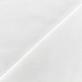 Heavy plain Milano jersey fabric - white x 10cm
