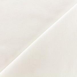 Heavy plain Milano jersey fabric - ecru x 10cm