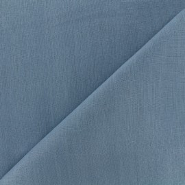 Tissu lin grande largeur - bleu x 10cm