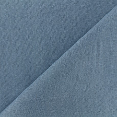 Large width linen fabric - blue x 10cm