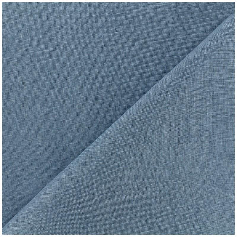 tissu lin grande largeur bleu x 10cm ma petite mercerie. Black Bedroom Furniture Sets. Home Design Ideas