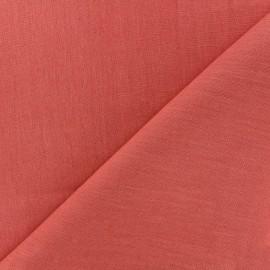 Tissu lin grande largeur - corail x 10cm