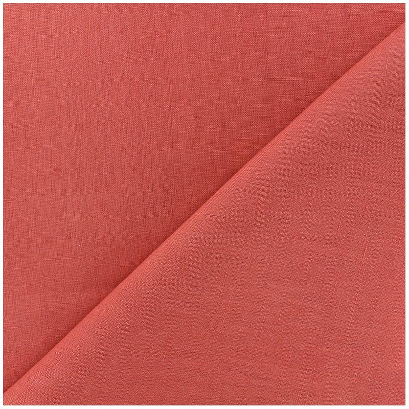tissu lin grande largeur corail x 10cm ma petite mercerie. Black Bedroom Furniture Sets. Home Design Ideas