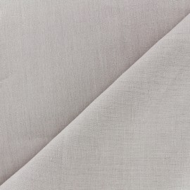 Large width linen fabric - pearl grey x 10cm