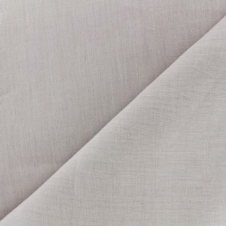 Large width linen fabric - pearl grey x 10cm