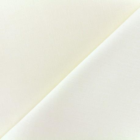 Large width linen fabric - creme x 10cm