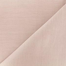Tissu lin grande largeur - rose x 10cm