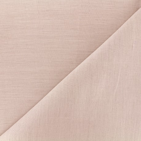 Large width linen fabric - pink x 10cm