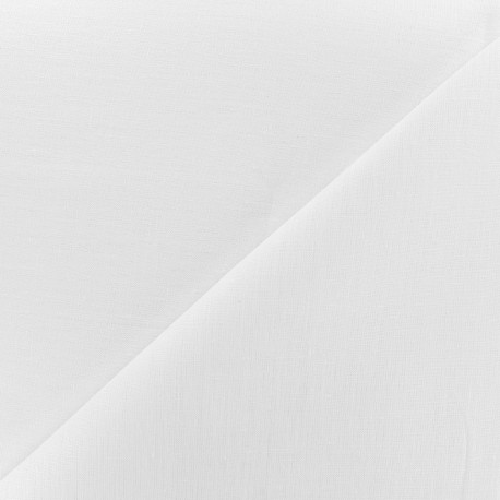 Large width linen fabric - white x 10cm