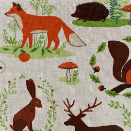 Cotton Canvas Fabric - forest x 31cm