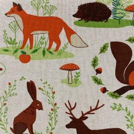 Tissu toile coton - forest x 31cm