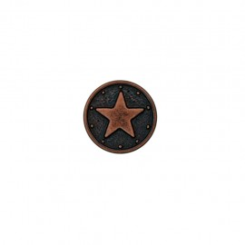 Bouton polyester Metallic star - cuivre