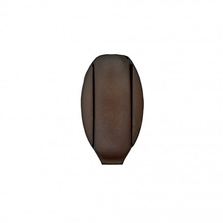 Embout de cordon Ellipse - marron