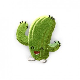 Joyeux cactus iron on patch - lying