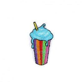 Petites sucreries d'été iron on patch - milkshake
