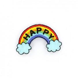 Thermocollant Happy - arc-en-ciel
