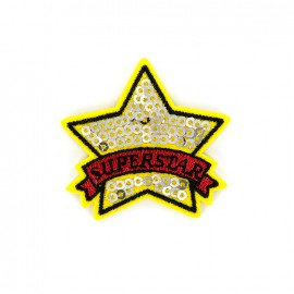 Superstar sequin Iron on patch- star