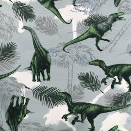 Tissu Jersey Dinosaures - bleu x 27cm
