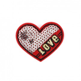 Superstar sequin Iron on patch- heart