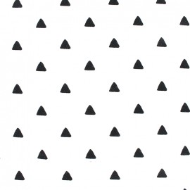 Jersey Fabric Triangles - black/white x 10 cm