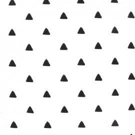 Tissu Jersey Triangles - noir/blanc x 10 cm