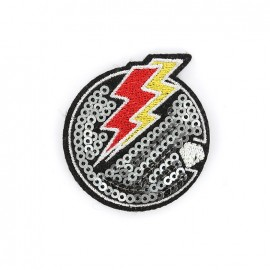 Superstar sequin Iron on patch- lightning