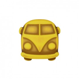 Polyester Button Petit van - yellow