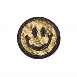 Sequin addiction sequin iron on patch - smile