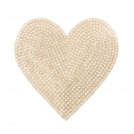 Sequin addiction sequin iron on patch - big heart