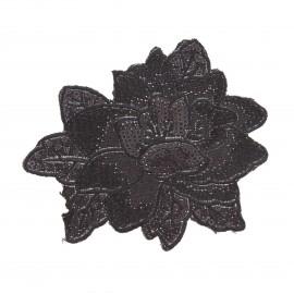 Thermocollant sequins  Poinsettia - noir
