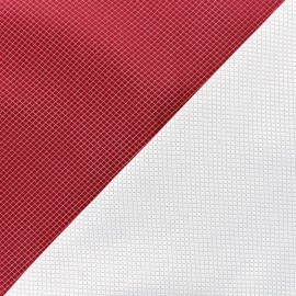 ♥ Coupon 25 cm X 150 cm ♥  jacquard fabric Goldy - red