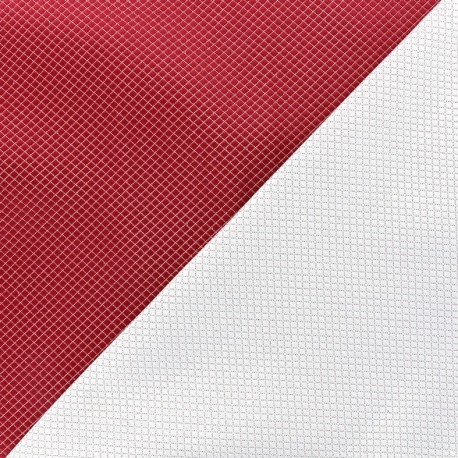 Reversible jacquard fabric Goldy - red