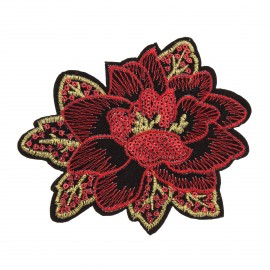 Thermocollant sequins  Poinsettia - rouge