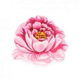 Thermocollant brodé Pivoine - rose