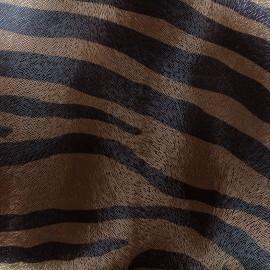 Imitation leather Souple frappé  Zèbre - copper x 10cm