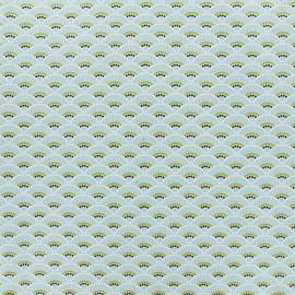 Tissu coton Koï - menthe x 10cm