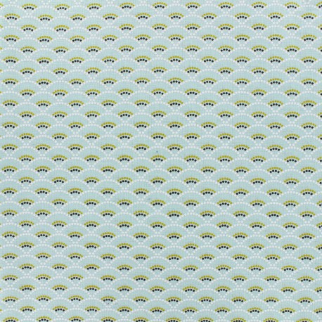 Cotton fabric Koï - mint x 10cm