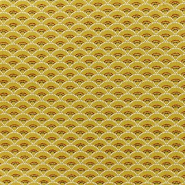 Cotton fabric Koï - yellow x 10cm