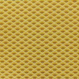 Tissu coton Koï - jaune x 10cm